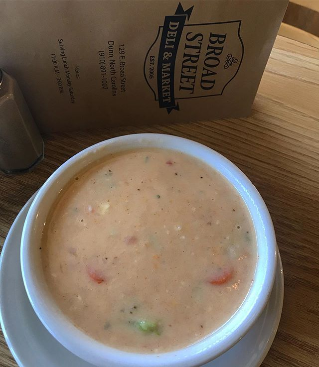Crab bisque and Chili are simmering! Come enjoy a bowl paired with your favorite sandwich! We will be serving 11-3!