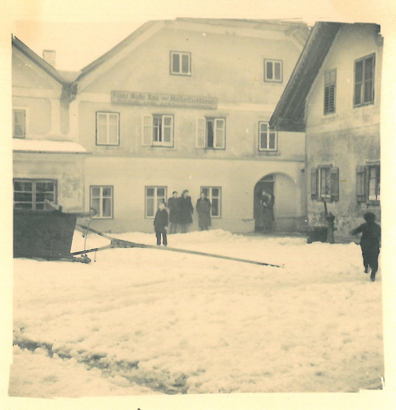 Historische Fassadenansicht, 1955.