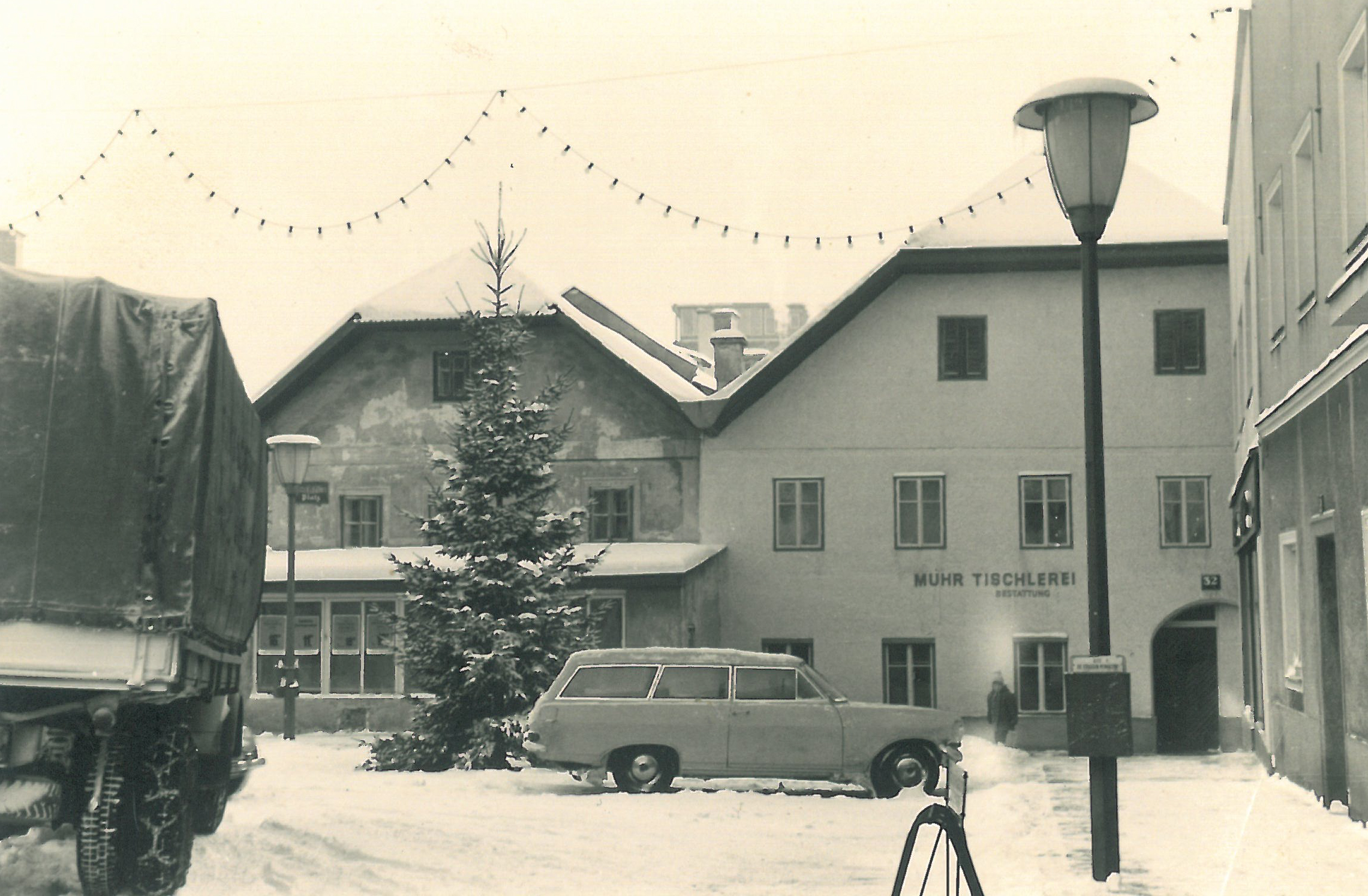 Fassadenansicht um 1968