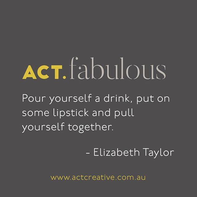 ACT.fabulous 💁🏻♀️⠀⠀⠀⠀⠀⠀⠀⠀⠀ .⠀⠀⠀⠀⠀⠀⠀⠀⠀ .⠀⠀⠀⠀⠀⠀⠀⠀⠀ . ⠀⠀⠀⠀⠀⠀⠀⠀⠀ #graphicdesigner #QUEEN #artdirector #creative #fabulous #graphicdesign #art #life #love #pouradrink #branding #elizabethtaylor #lipstick #liztaylor #rebranding #freshlook #dowhatyoulove #designlife #design #logo #digitaldesigner #styleguides #melbourne #australia #worldwide #becreative #pullyourseftogether #morningtonpeninsula #fresh #fashiondesign