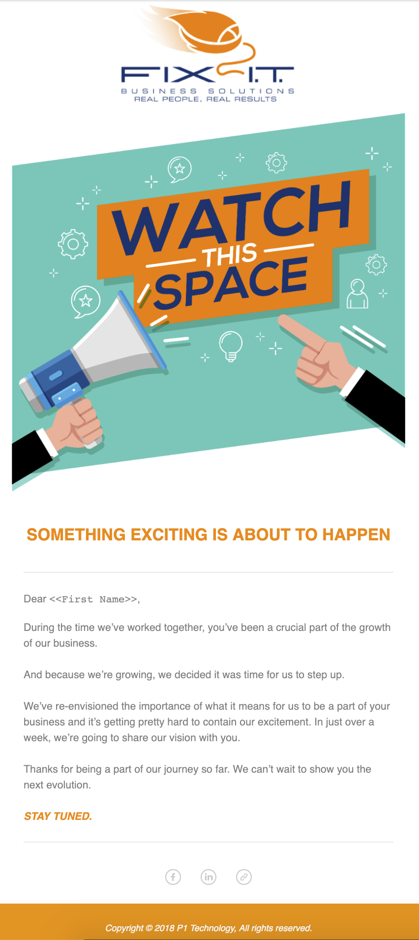 EDM - Pre-Launch Email