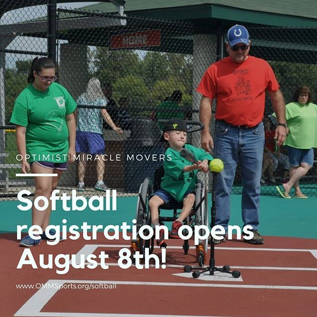 This Thursday registration will open for OMM Softball! Miracle Field is ready, now we just need to get athletes ans buddies out for this amazing fall session of softball. ☺  Links will be live on the website on August 8th. Wonder if @rowdiebear and the @indyindian would like to come out and join us for a game?? ⚾  #OMMSports #OMMSoftball #autism #autismacceptance #specialneedskids #specialneedsparenting #specialneedschild #softball #softballlife #DownSyndrome #WheelChairAthelete
