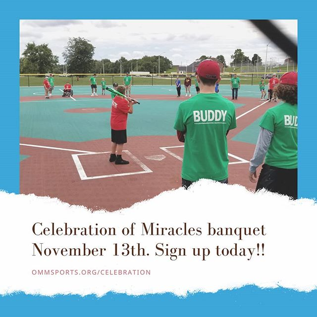 November 13th is the Celebration of Miracles banquet!! Details were in the recent newsletter thst sent out, but feel free to visit the website to register today!  www.OMMSports.org/celebration (clickable link in Instagram profile) . . #OMMSports