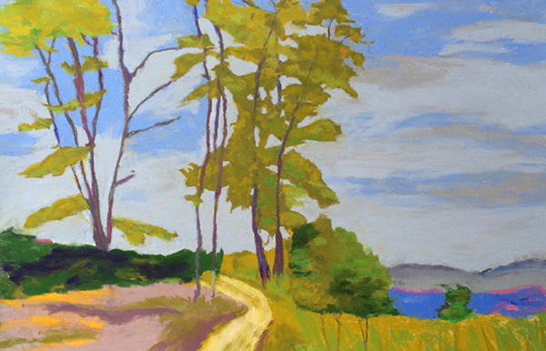 "Bolinas Path, 22x16"", Framed $650 SOLD"