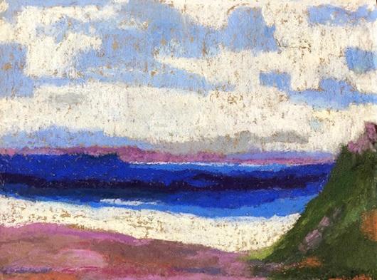 """Tenacatita Bay, 14x 8"""" Framed, $375"""