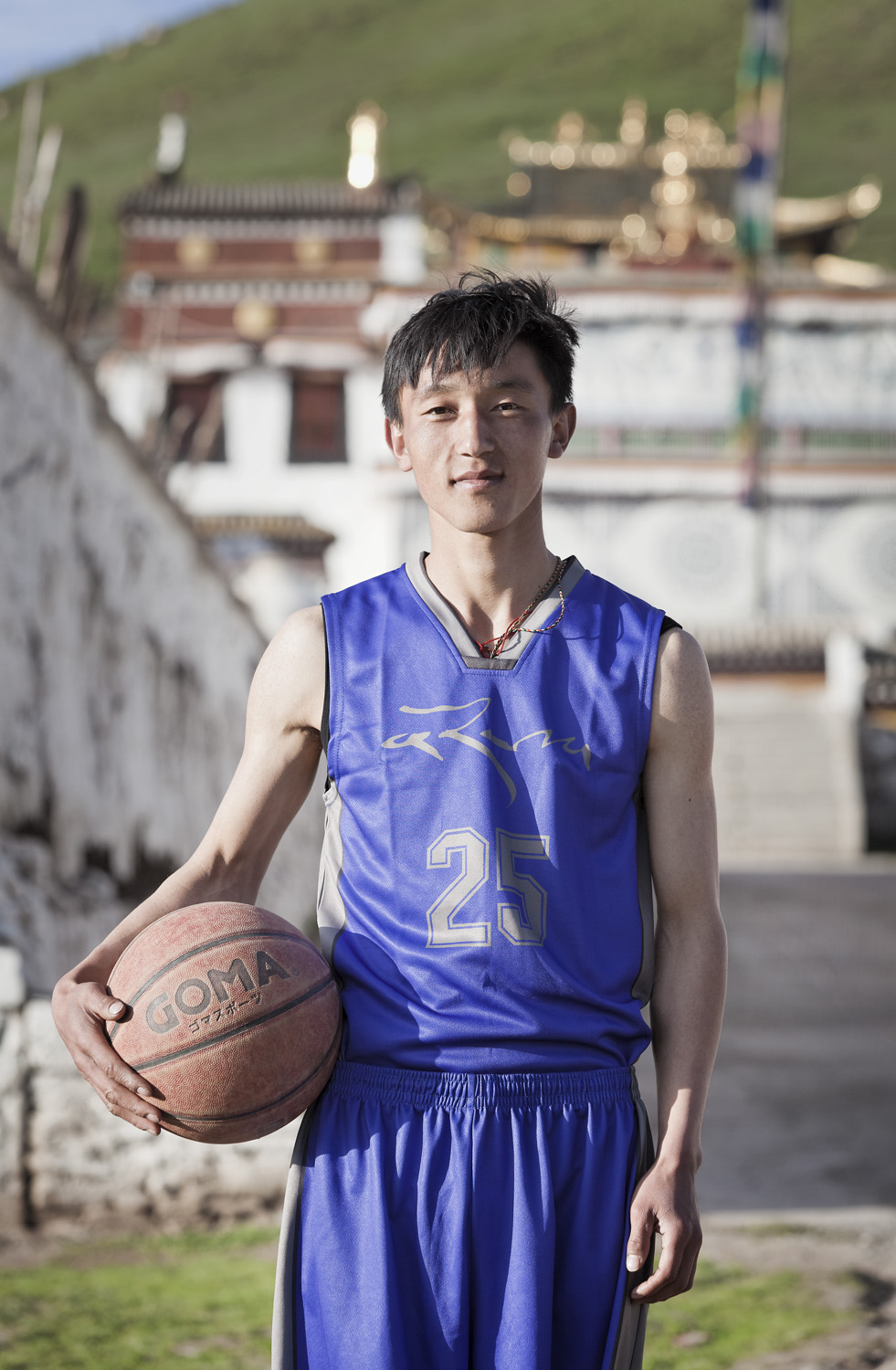 Dorjee Tsering རྡོ་རྗེ་ཚེ་རིང་། - Team Manager, wife Tsering Kyi plays on the women's team, married into the village from a nearby region called Jone