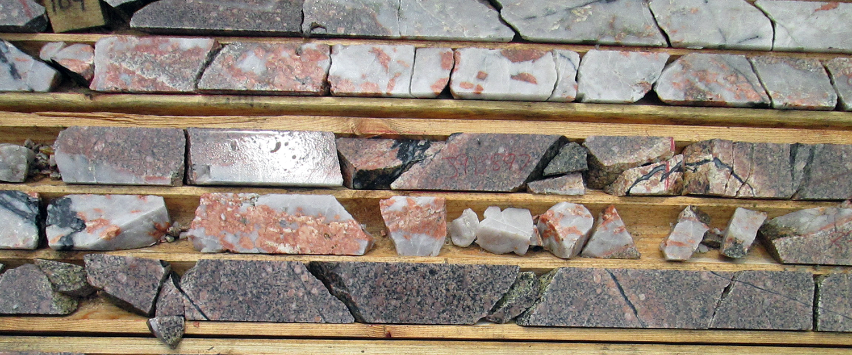 Blakelock Quartz-tourmaline vein in a monzodiorite.