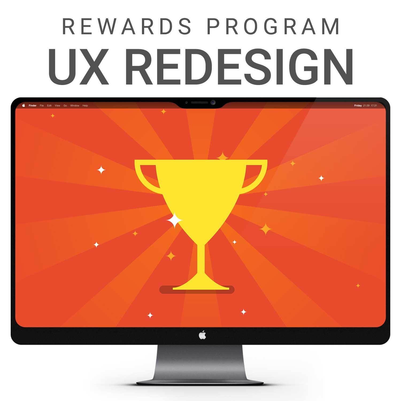 Fortune 100 software client: Rewards program UX redesign