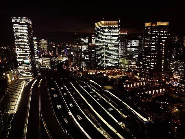 Good night, TOKYO.  #tokyo #station #rail