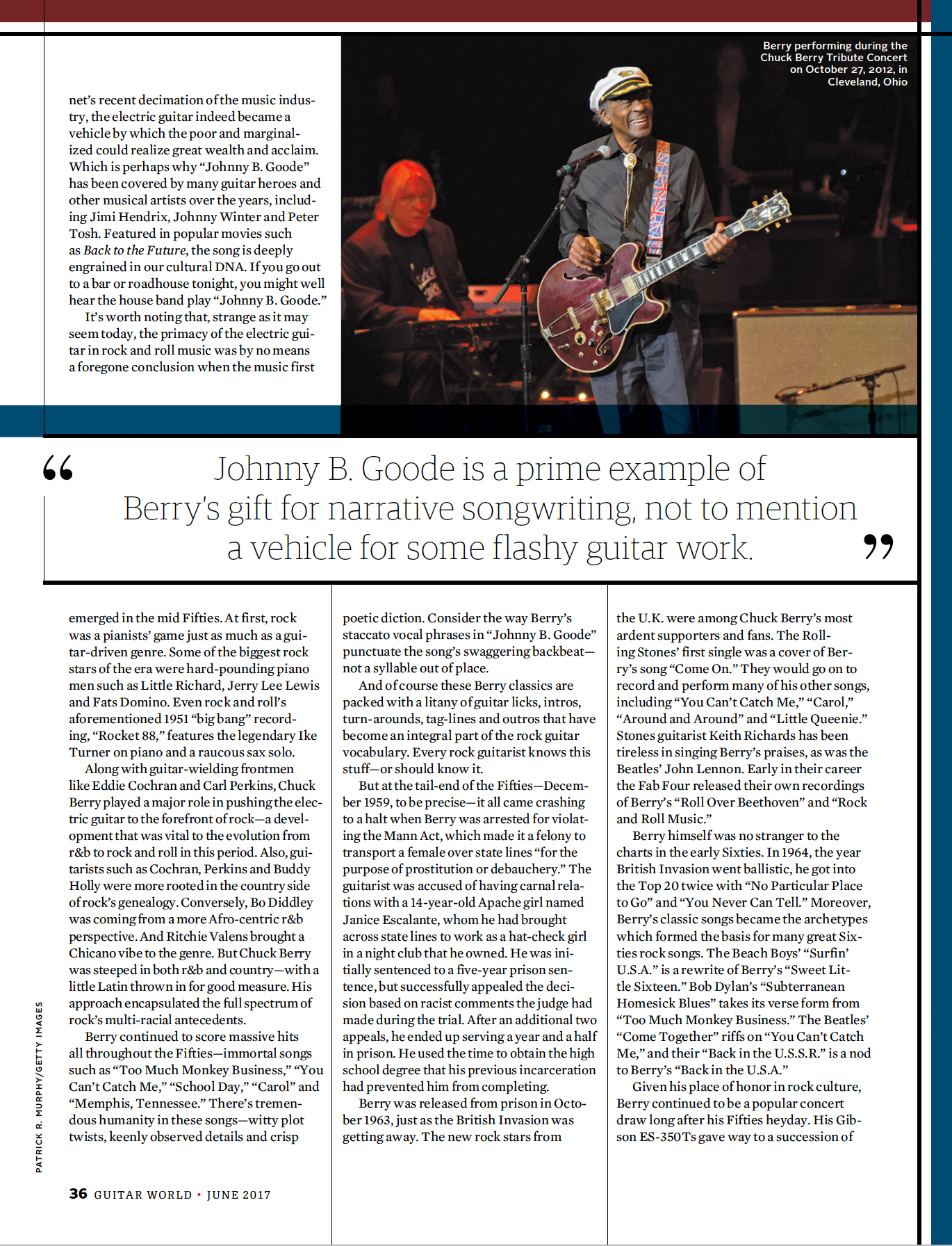 Chuck Berry-Guitar World Magazine