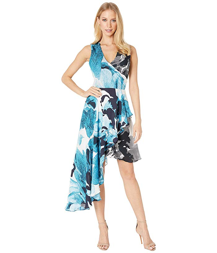 Watercolor Bloom Asymmetrical Dress