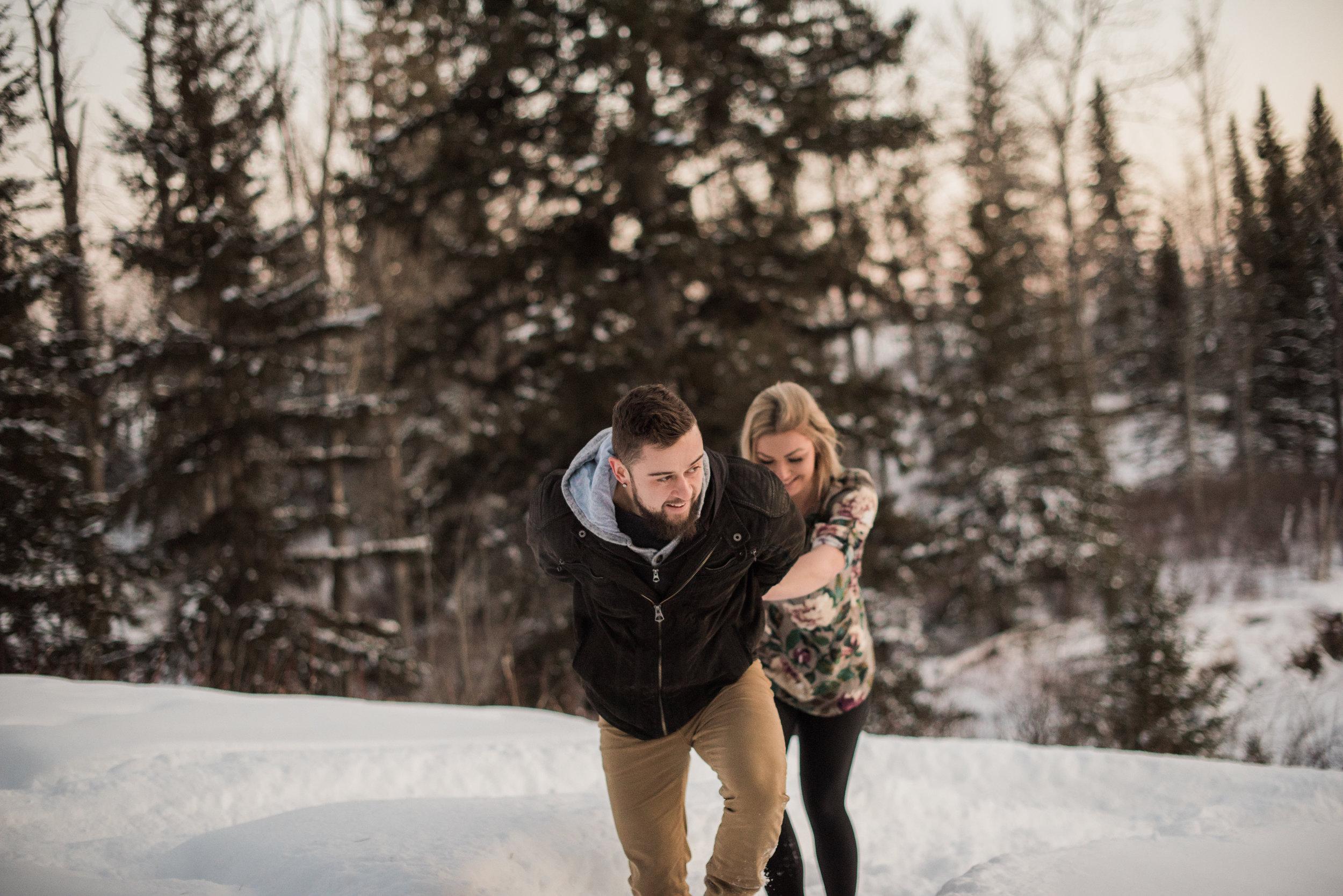 Winter Engagement Session | Edmonton Alberta | Rockwood Photography