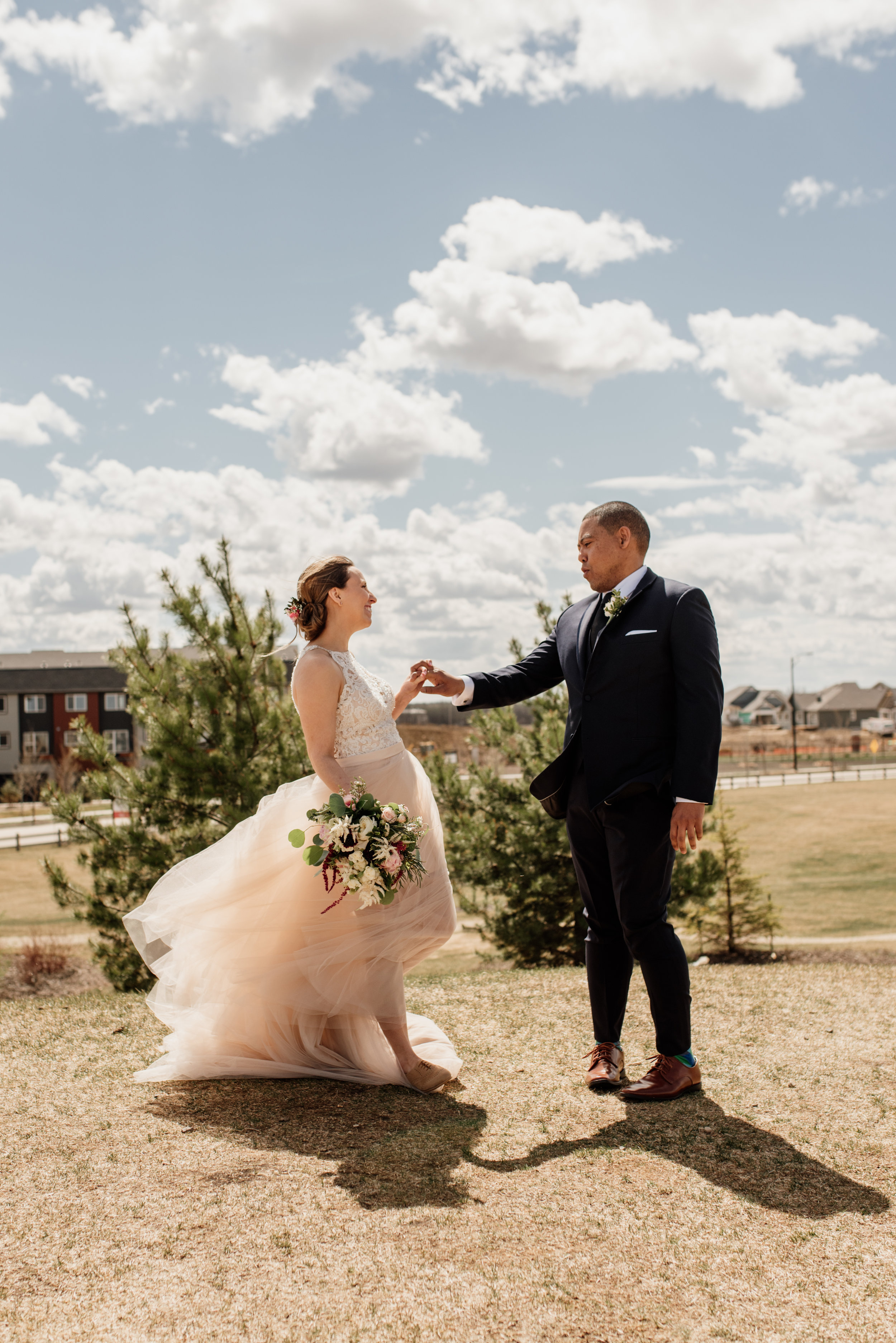 First Look | Edmonton Wedding Photographer | Rockwood Photography