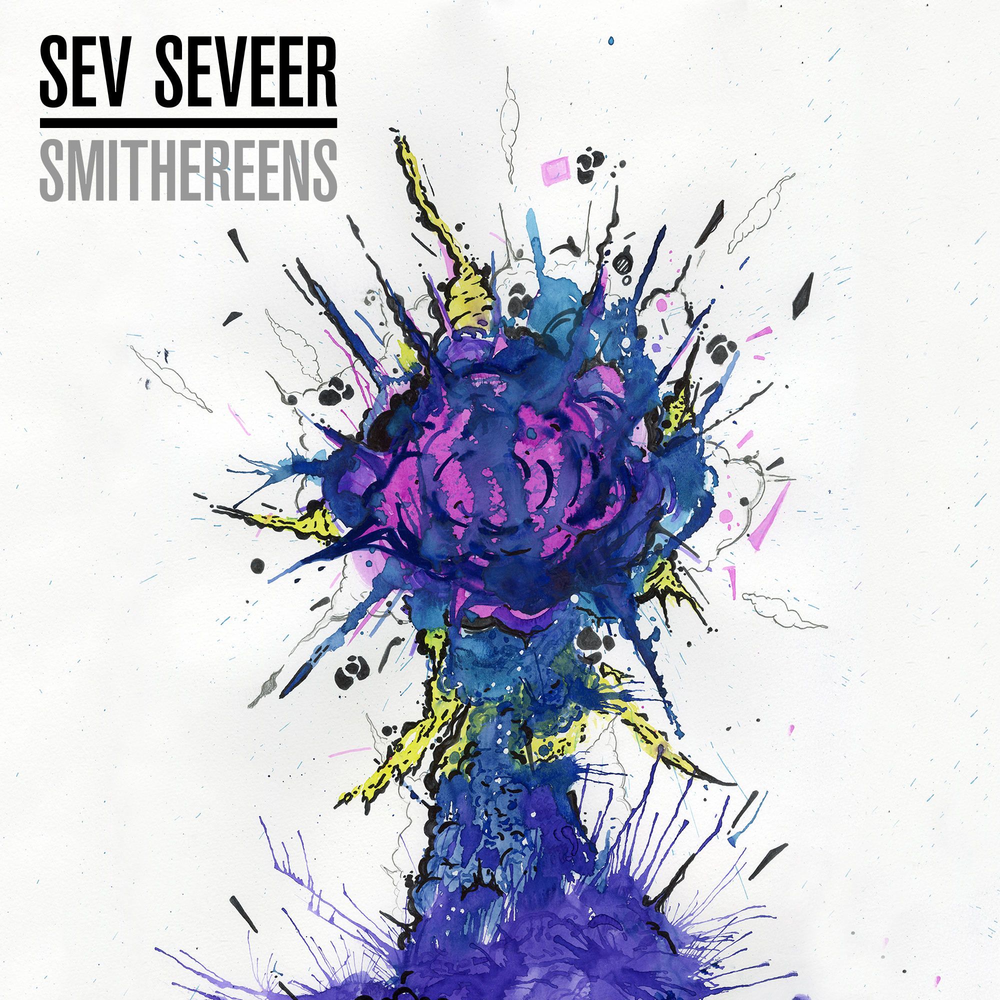 "SEV SEVEER - SMITHEREENS (BOAN-004)    VINYL & DIGITAL    Be among the very few to own Beats of All-Nations and Sev Seveer's first 12"" vinyl release!  An audio pointilism piece. Includes liner notes with photo and exclusive vinyl only bonus tracks. Cover art by Fonte. Vinyl available now while copies last."