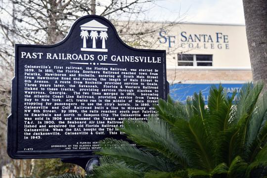 The historic Atlantic Coast Line Railroad Depot has become part of the Santa Fe College downtown campus.  Josephine Fuller / Alligator Staff