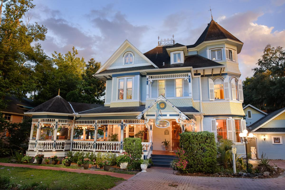The McKenzie House is one of the two Victorian mansions featured at the Sweetwater Branch Inn.  Jimmy Ho Photography