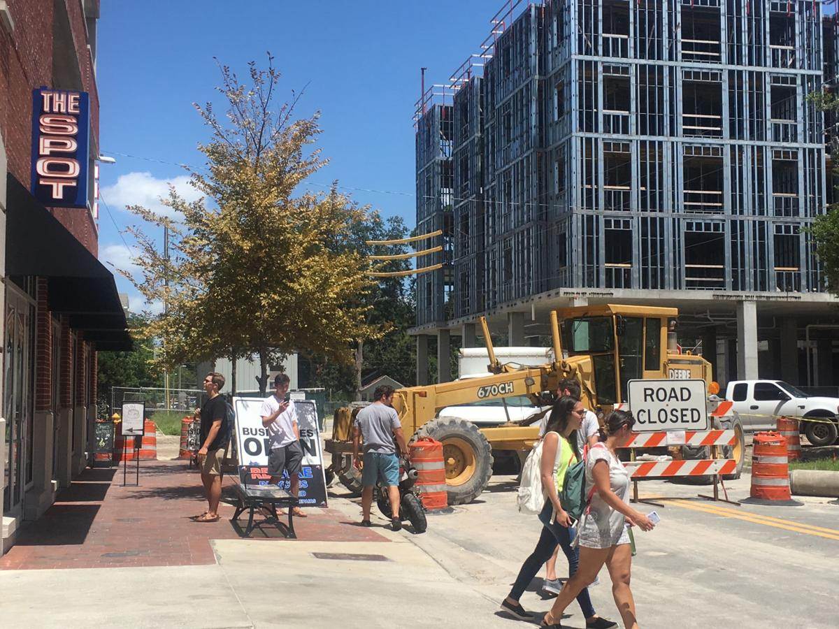 [FILE PHOTO] The Spot, 16 NW 18th Ave., is one of several Midtown businesses neighboring a construction zone. Renovations are expected to last through October.  Emily Mavrakis / Alligator