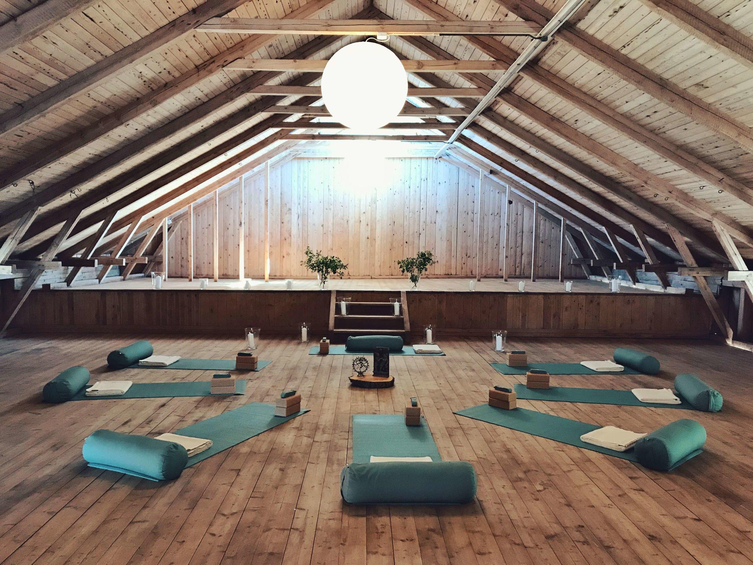 The yoga barn at the old farm house