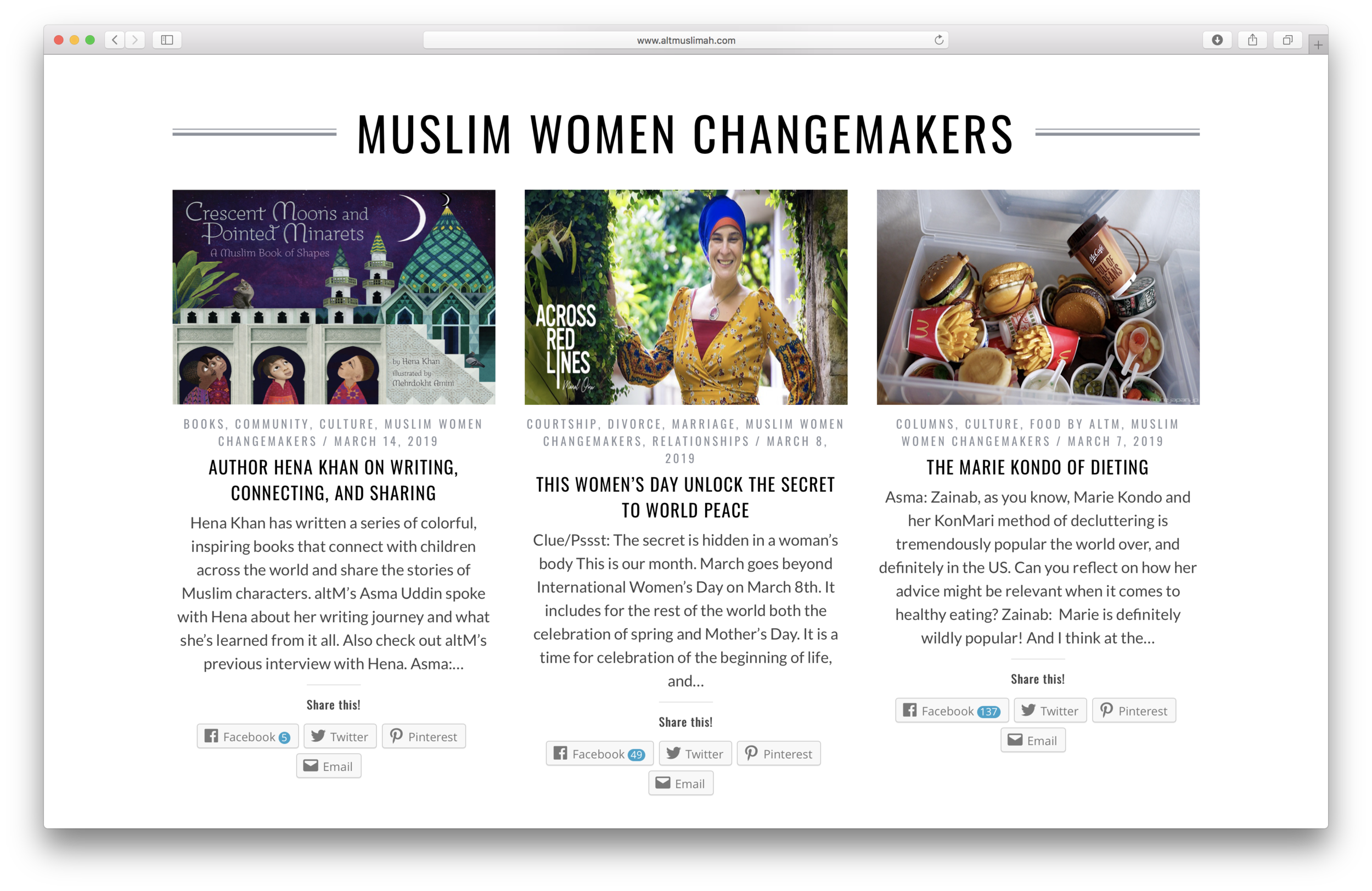 Manal Omar and Across Red Lines have been selected to be regular contributors to  altmuslimah.com .
