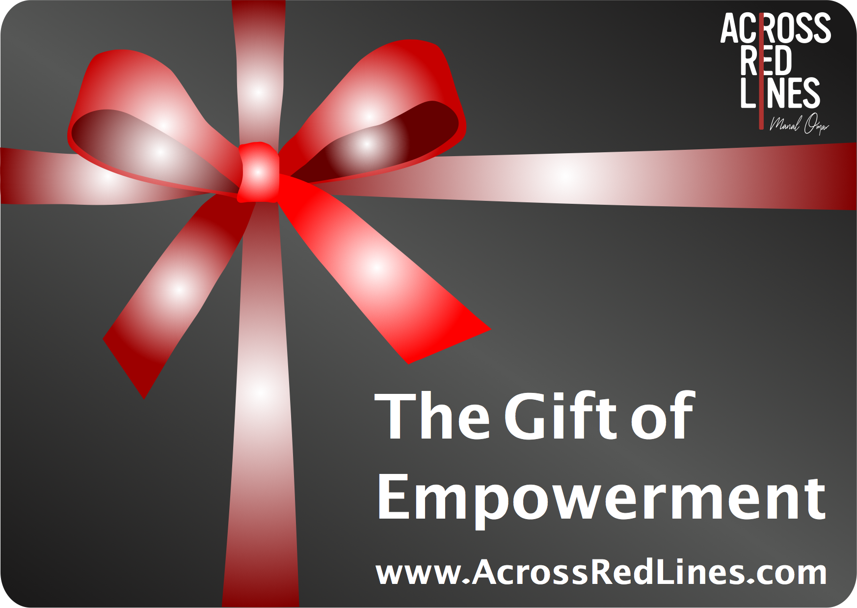 Want to Help Another? - Across Red Lines is offering you the chance to purchase gift cards and donate to scholarships to enable others to take advantage of our life changing retreats.