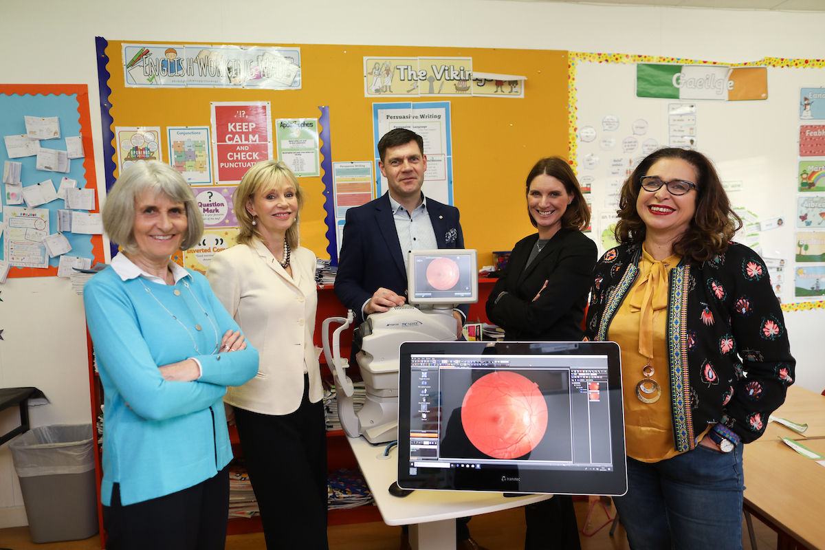 Ms Joan Kirby Principal St. Andrew's College, Booterstown, Dr. Kate Coleman CEO/founder iKEY, Mr. Fergal Byron UK/Ireland Director TOPCON, Ms Sarah Mc Cormack Headmistress St. Andrew's College Junior School, Ms Krysia Lynch Chair of St. Andrew's parent teacher committee.