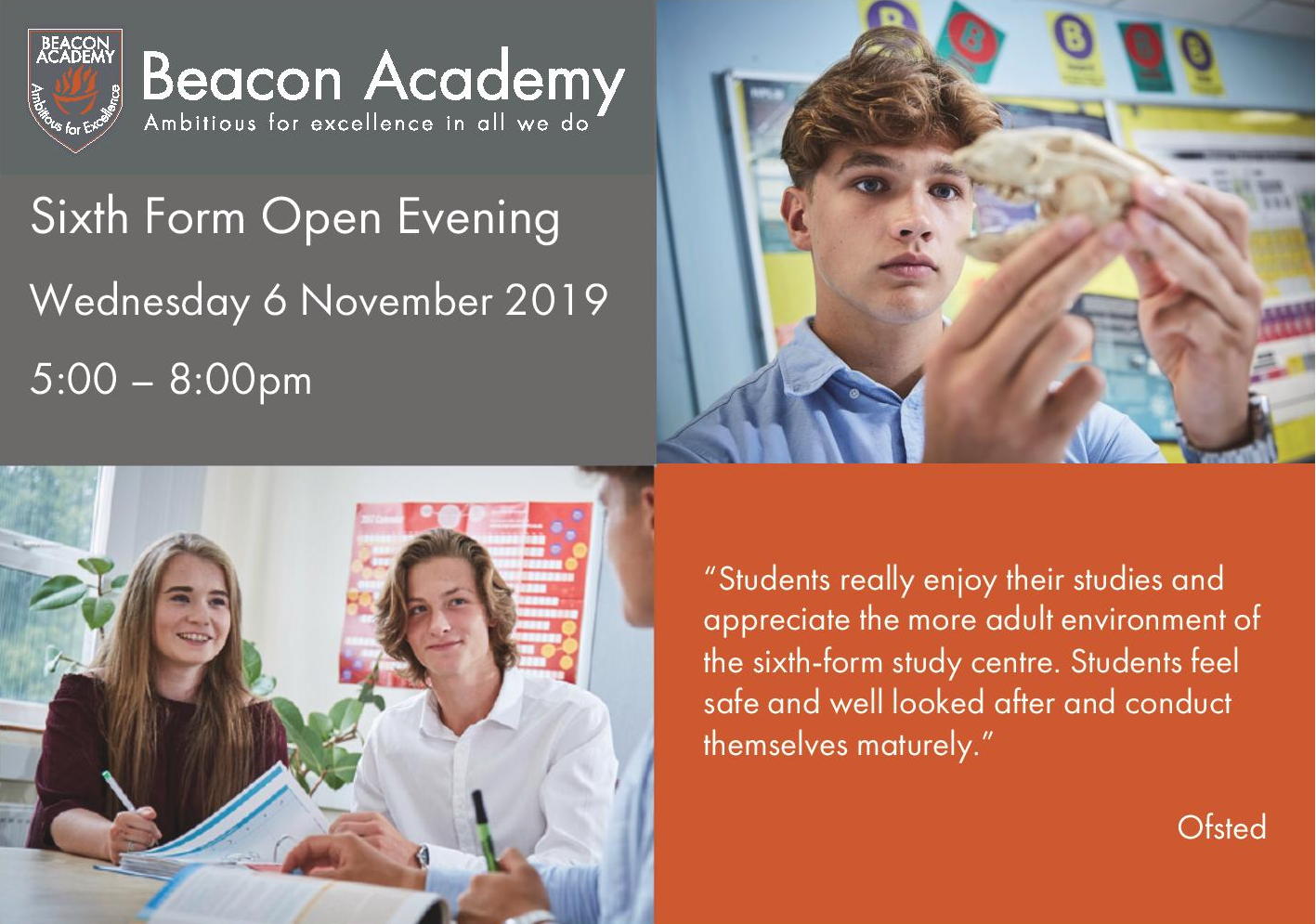 Support Local Magazine Sixth Form Open Evening 2019 landscape.png