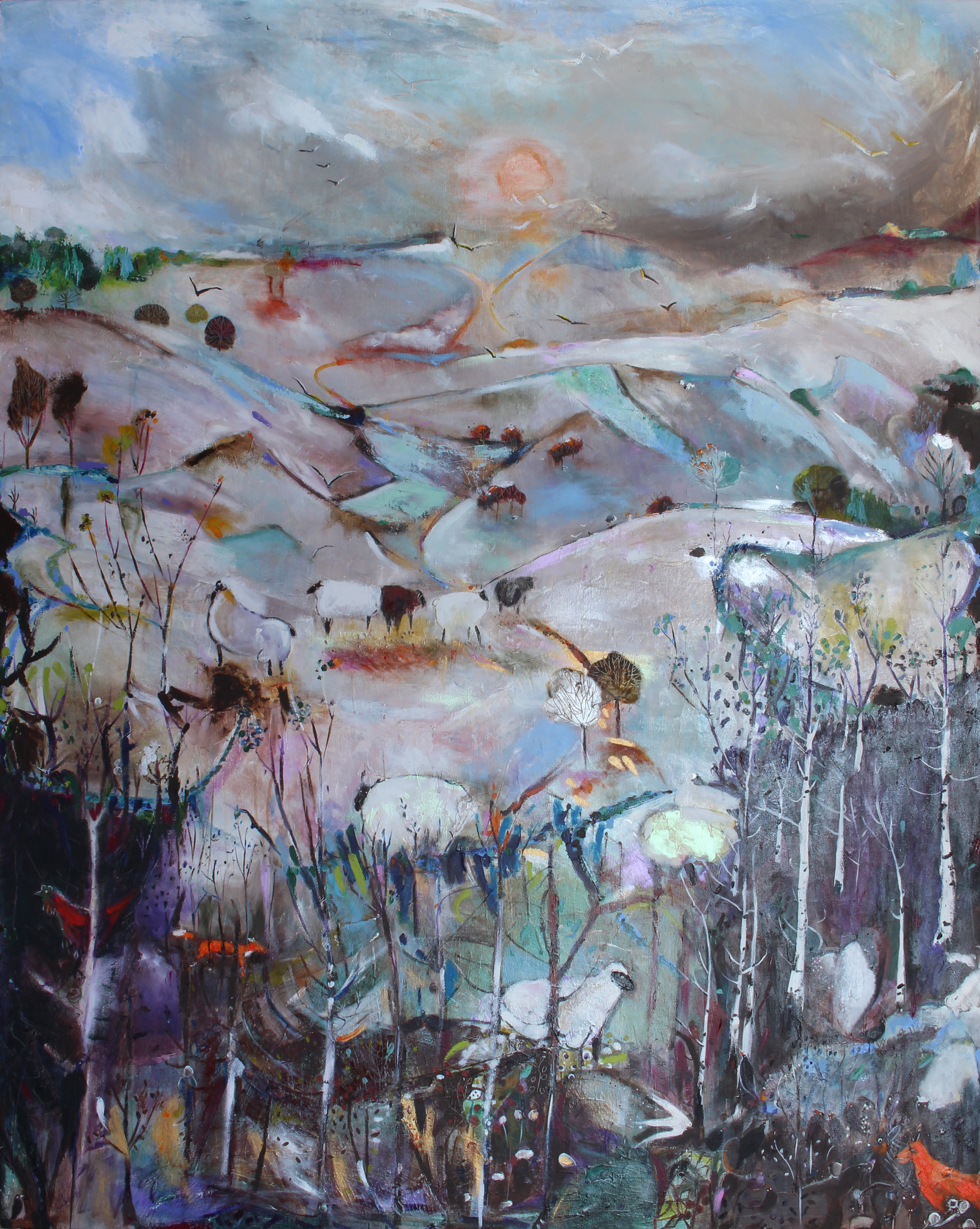 Within a Winter Landscape, acrylic on canvas, 158 x 127 cm