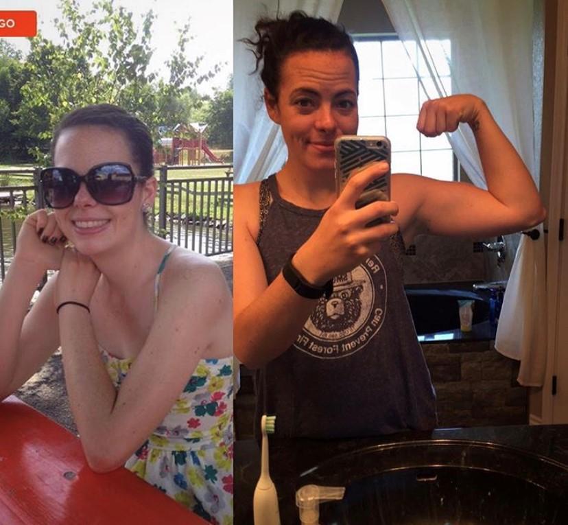 Sara's transformation photos