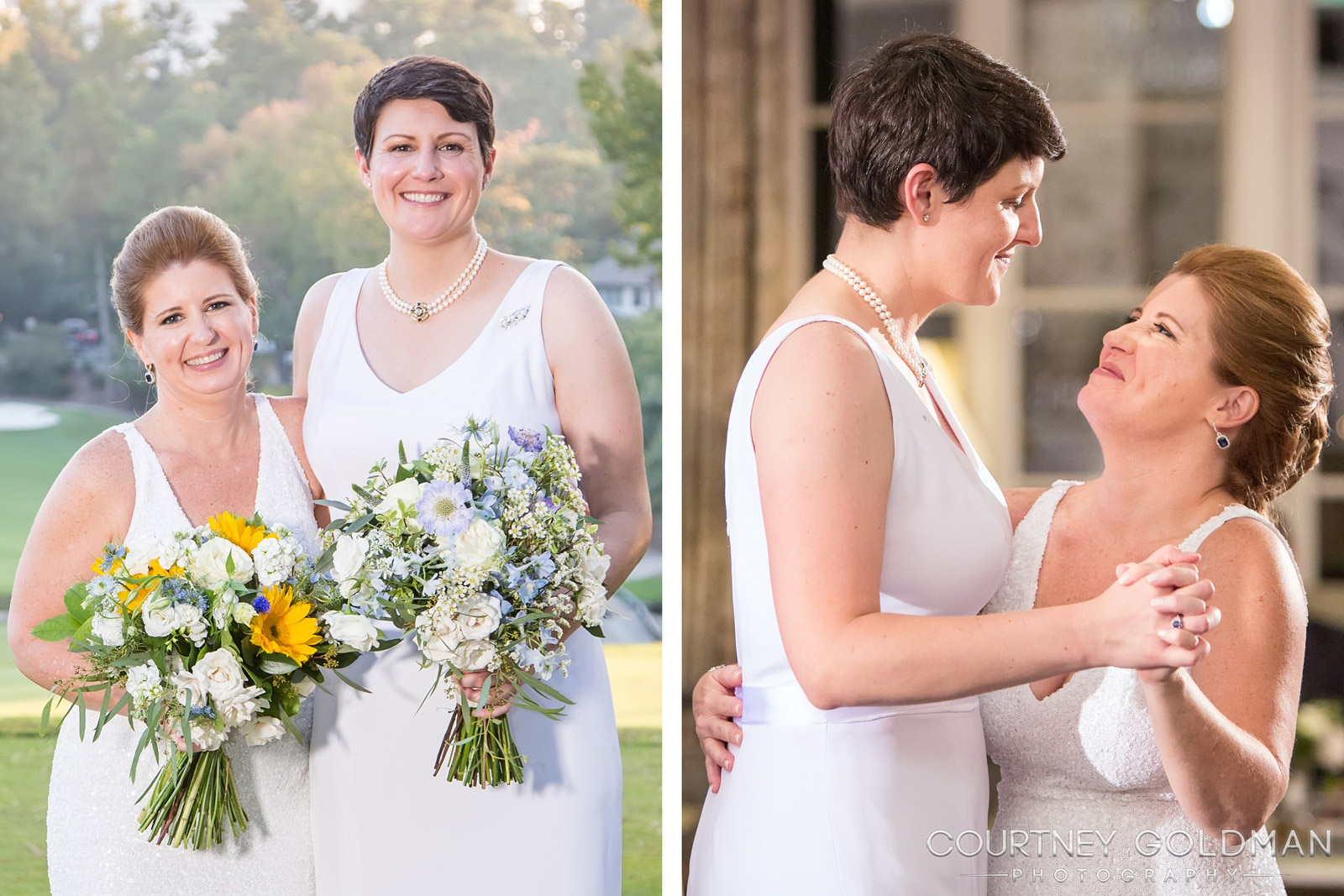 "the perfect story - ""Courtney captured the exact blend of posed and candid shots that tell the perfect story of our wedding.""~ Judy & Vivian"
