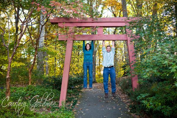 Botanical Gardens Engagement Portraits Athens Courtney Goldman Photography