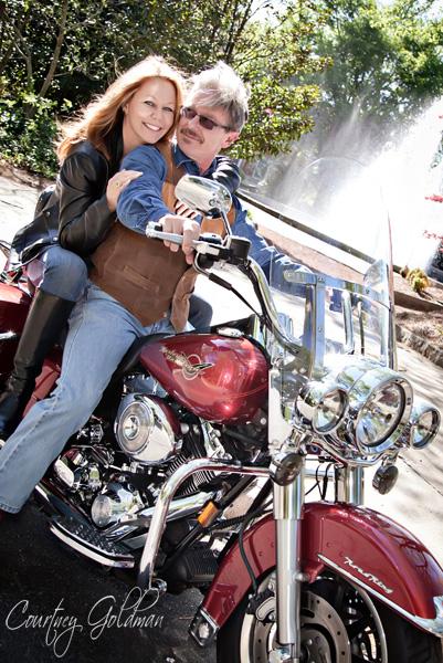 Athens Georgia Engagement Photography UGA Motorcycle Courtney Goldman