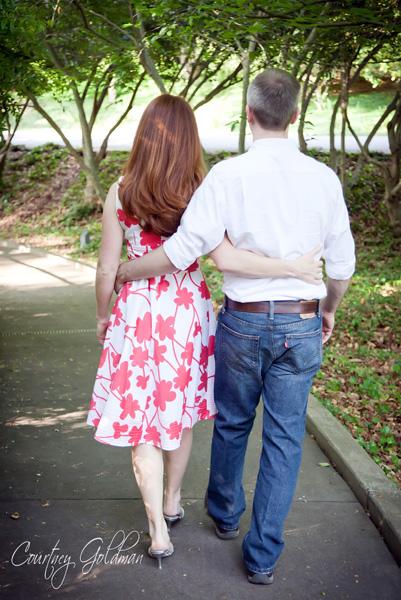 Engagement Portrait Session Athens GA Botanical Gardens Courtney Goldman Photography