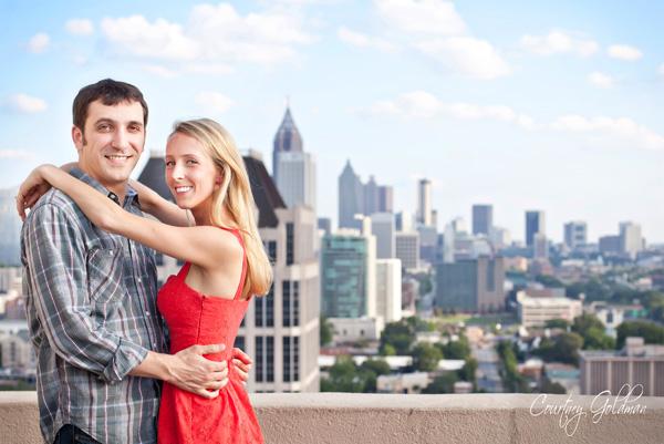 engagement session atlanta skyline georgia courtney goldman photography
