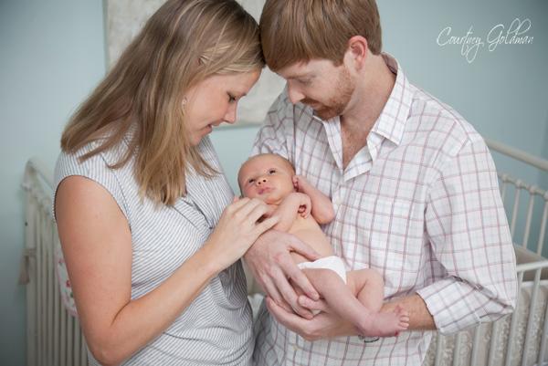 Newborn Baby Portrait Atlanta Georgia Courtney Goldman Photography