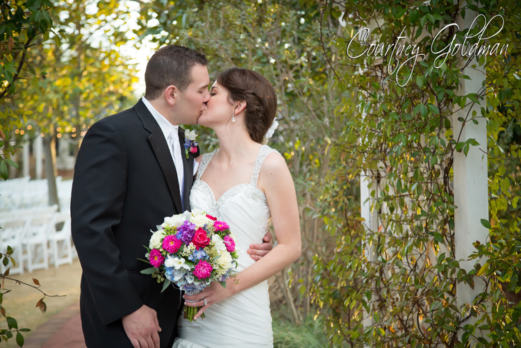 The-Thompson-House-and-Gardens-Wedding-Ceremony-in-Bogart-and-Athens-Georgia-by-Courtney-Goldman-Photography-27-Bride-and-Groom-Kiss.jpg