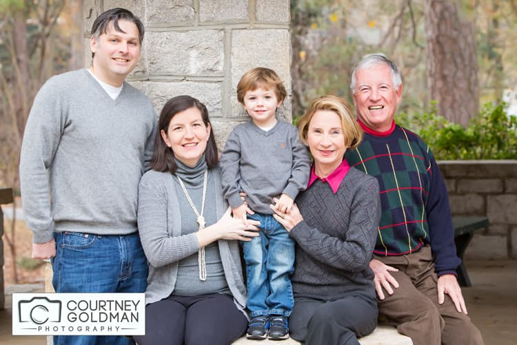 Fall Family Portrait Session at McClatchy Park in Ansley Park in Atlanta Georgia by Courtney Goldman Photography 07