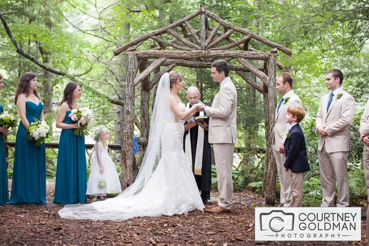 Atlanta Georgia Photographer Asheville Saluda Wedding Ceremony at The Canoe Dock by Courtney Goldman Photography 18