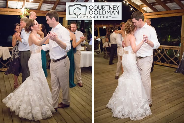 North Carolina Wedding Reception at The Canoe Dock in Saluda Zirconia by Courtney Goldman Photography 019