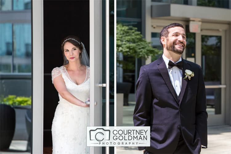 Atlanta Georgia Wedding First Look Portraits at Loews by Courtney Goldman Photography 127