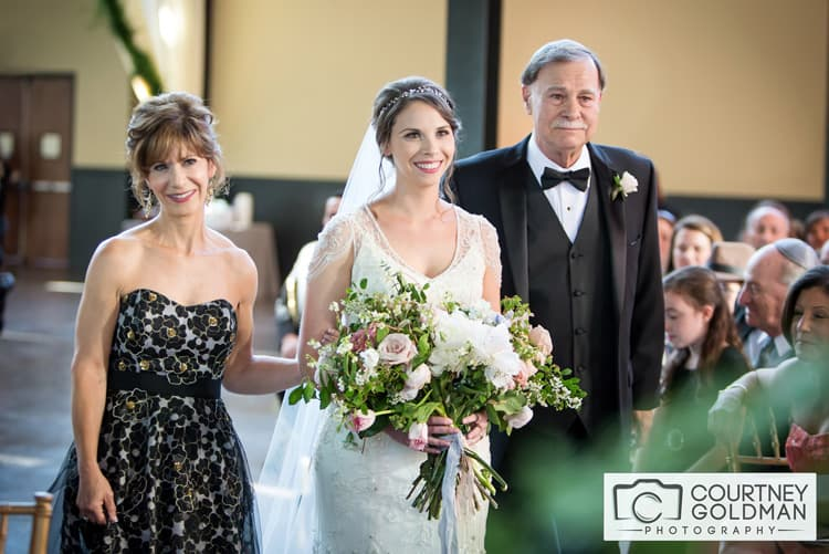 Jewish Wedding Ceremony under Floral Chuppah at The Foundry at Puritan Mill by Courtney Goldman Photography 24
