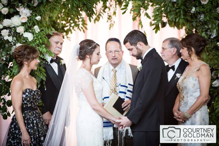 Jewish Wedding Ceremony under Floral Chuppah at The Foundry at Puritan Mill by Courtney Goldman Photography 25