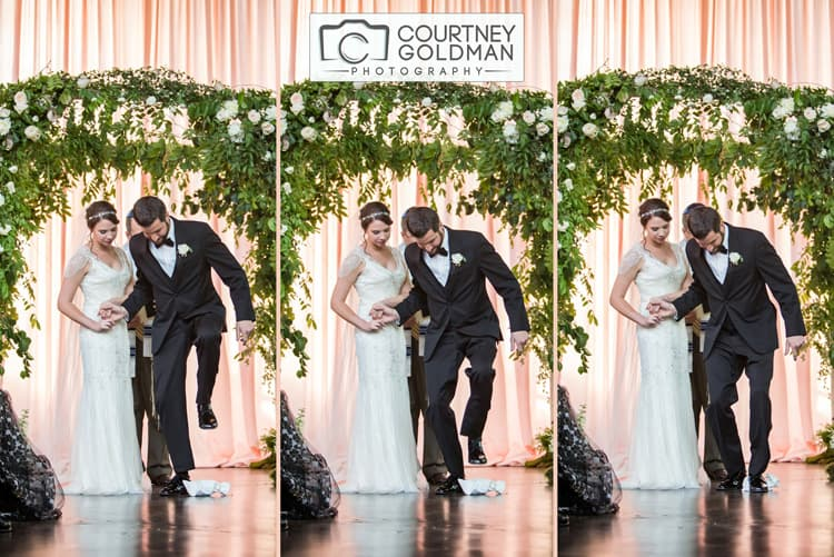 Jewish Wedding Ceremony under Floral Chuppah at The Foundry at Puritan Mill by Courtney Goldman Photography 33