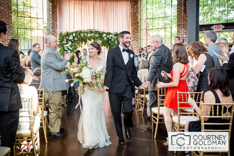 Jewish Wedding Ceremony under Floral Chuppah at The Foundry at Puritan Mill by Courtney Goldman Photography 36
