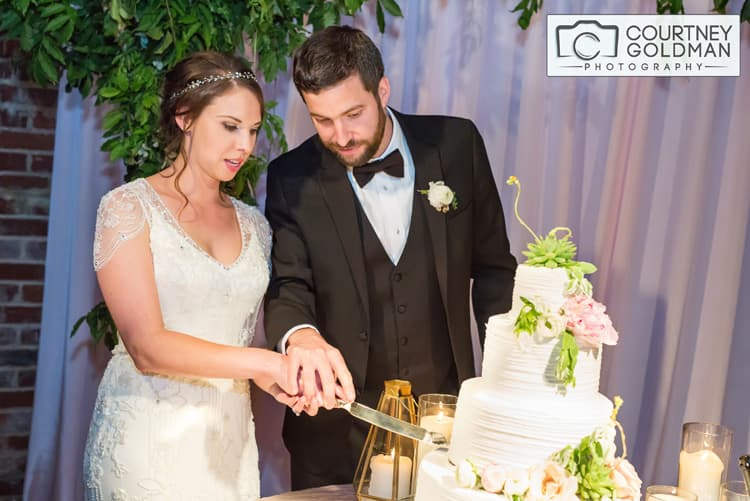 Jewish Wedding Reception at The Foundry at Puritan Mills in Atlanta Georgia by Courtney Goldman Photography 270