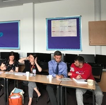 Larkhall Academy discussion on courageous leaders
