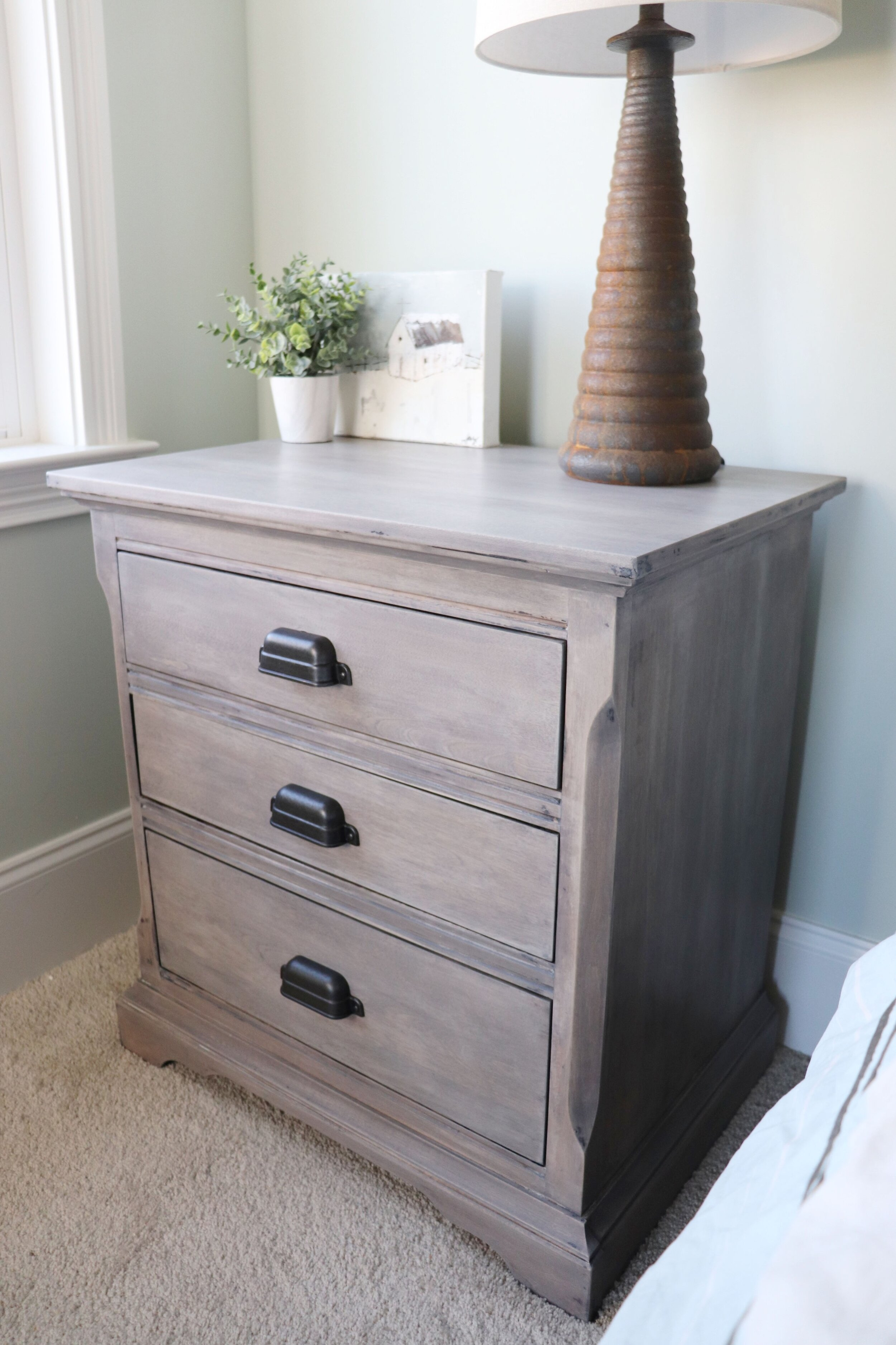 Nightstand Makeover Furniture Stripping And Refinishing Pretty Distressed Christina Muscari