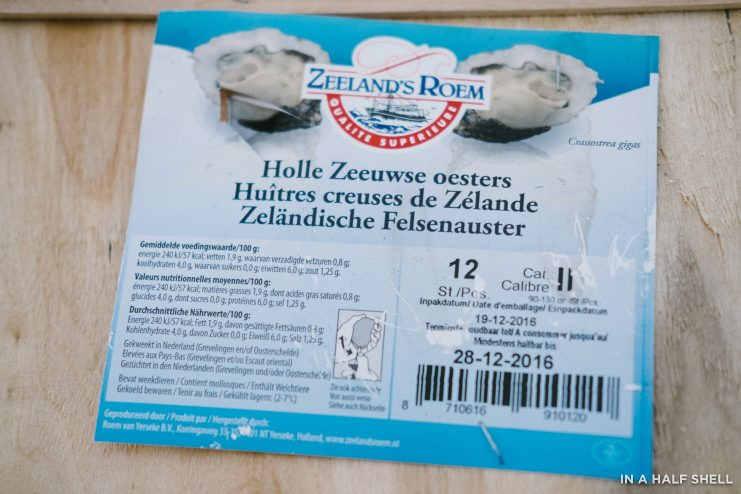 In A Half Shell Zeeland Roem Holland Oysters