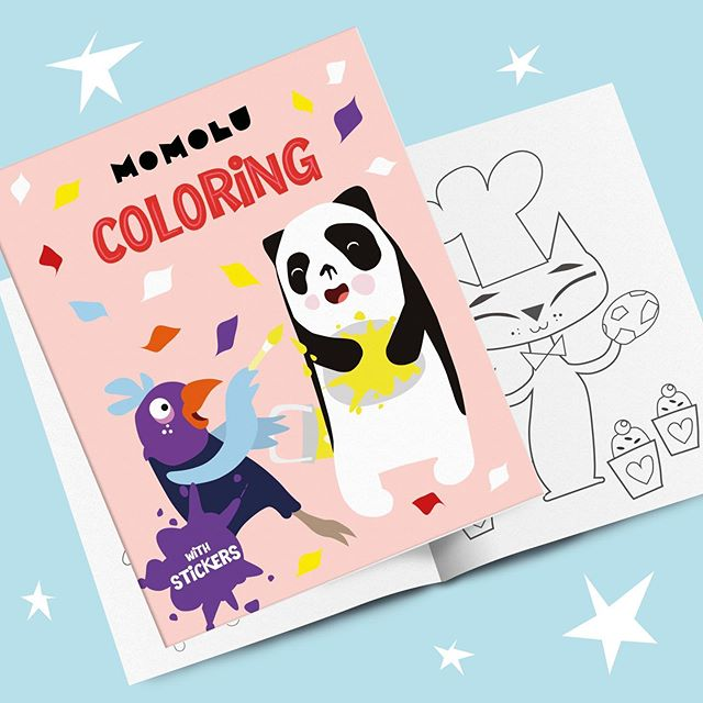 ★ MOMOLU concept development - coloring books in progress 🐼🐦🎨🖍👩‍🎨👨‍🎨 ★ ★ ★  #momolu #momoluofficial #momoluandfriends #momoluminis #kidsart #finnishdesign #leenafredriksson #ferly #ferlyofficial #illustration #coloringbook #coloringbooks #publishing #conceptdevelopment #momolutuku #licensing