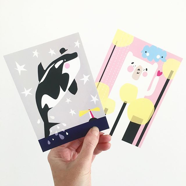 ★ MOMOLU postcards ★ ★ ★  #momolu #momoluofficial #momoludesign #ferly #ferlyofficial #kidsart #finnishdesign #nordicdesign #leenafredriksson #momolupostcard #illustration
