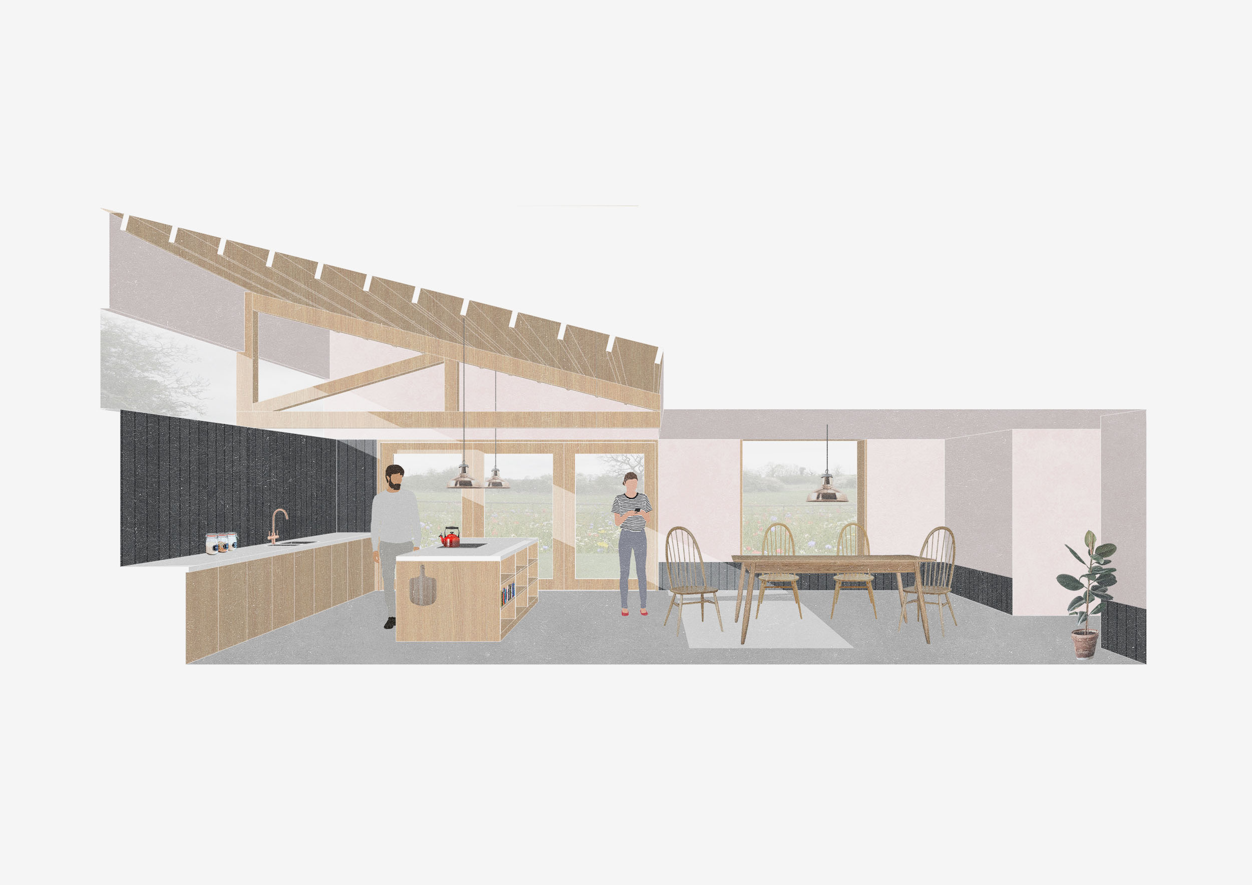 Contemporary and sustainable kitchen extension in Feckenham, Worcestershire
